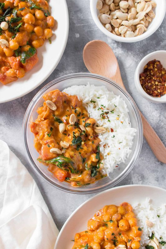 Peanut Chickpea Curry   Carmy
