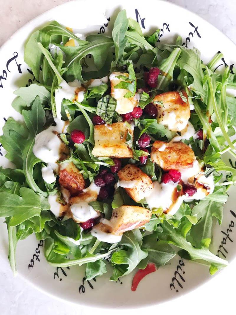 Halloumi Salad   Food Mamma