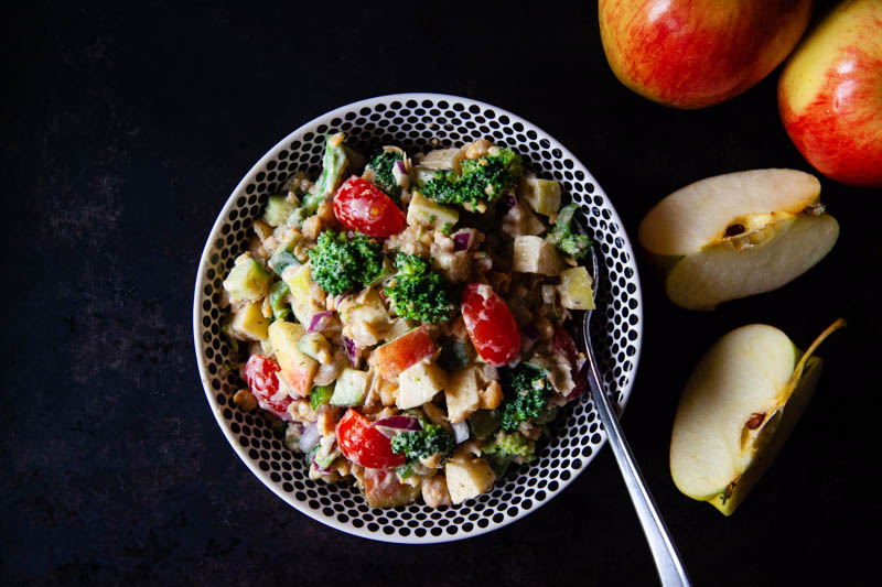 Chickpea Apple Salad with Broccoli | Food Bloggers of Canada