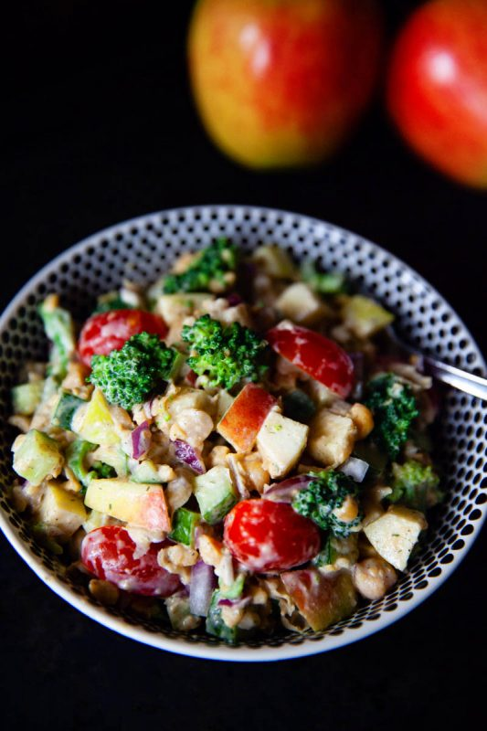 chickpea salad with apples | food bloggers of canada
