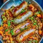 Apple Cider and Sausage Lentil Casserole | Total Feasts