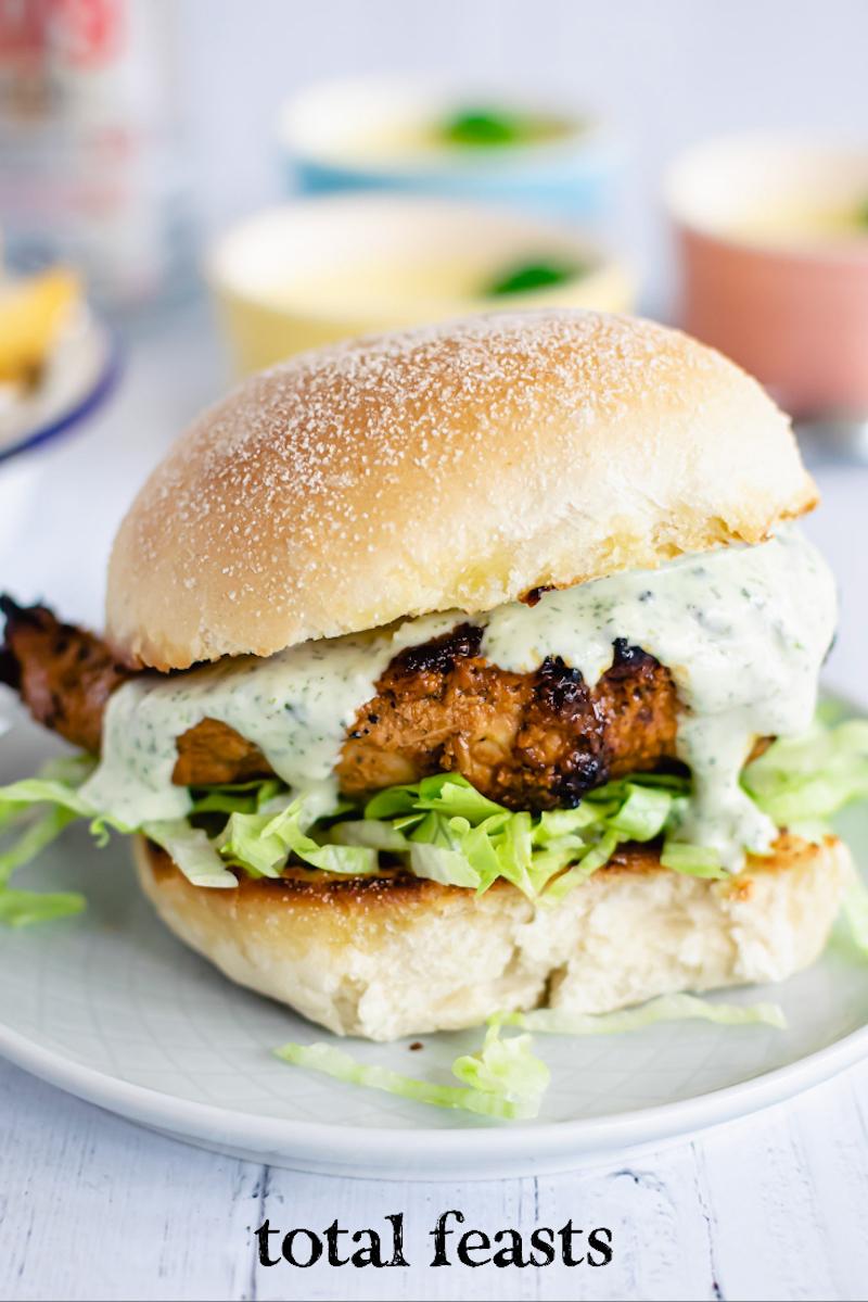 Peruvian Style Chicken Sandwich | Total Feasts