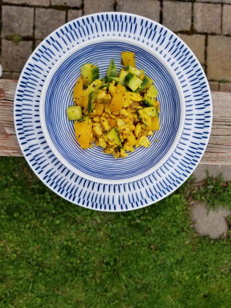 Cucumber Curry Salad