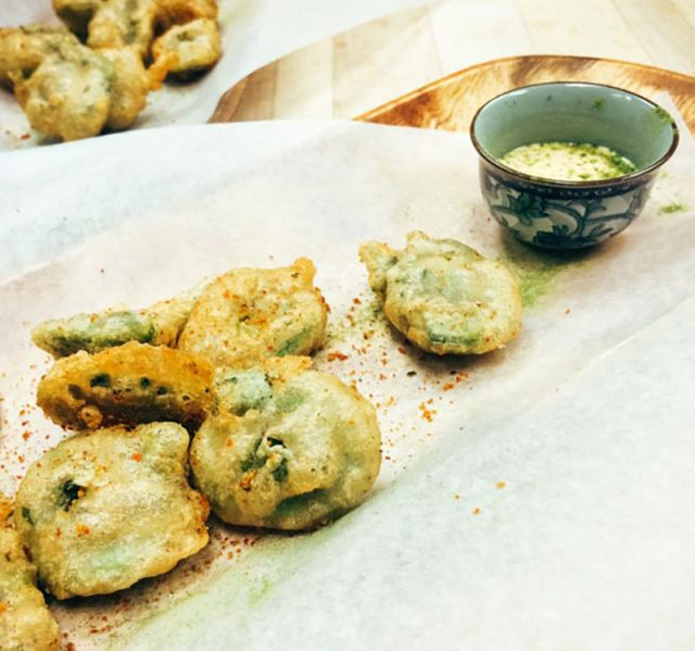 Beer Battered Fiddleheads | Bacon is Magic