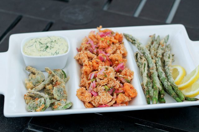 Paleo Calamari and Battered Fiddleheads and Asparagus | The Primal Desire