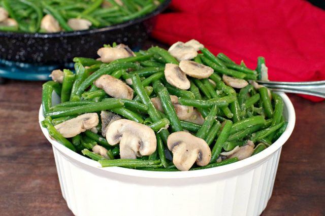 Green Beans and Mushrooms Side Dish | Food Meanderings