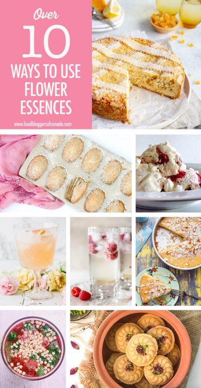 Collage of Recipes that use flower essences