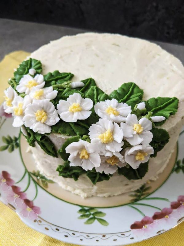 Lemongrass Cake with Key Lime Frosting