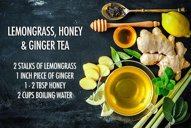 Lemongrass honey ginger tea