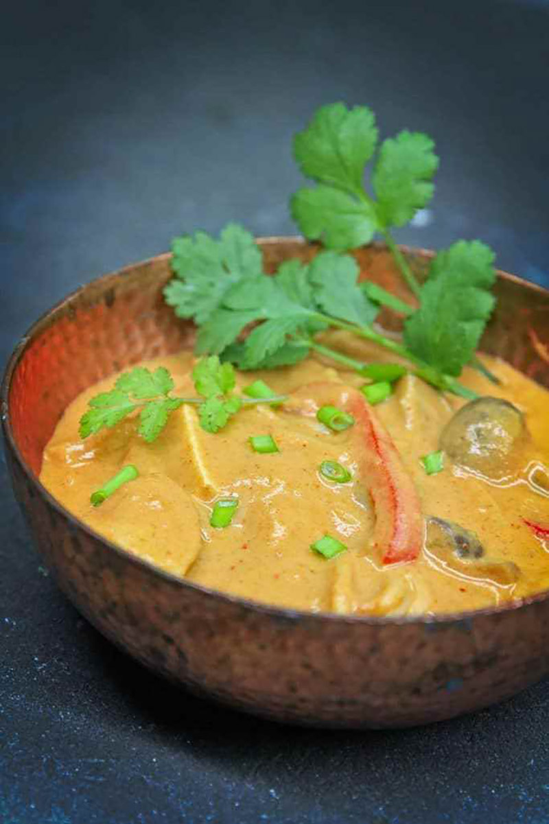 Spicy Thai Peanut Soup