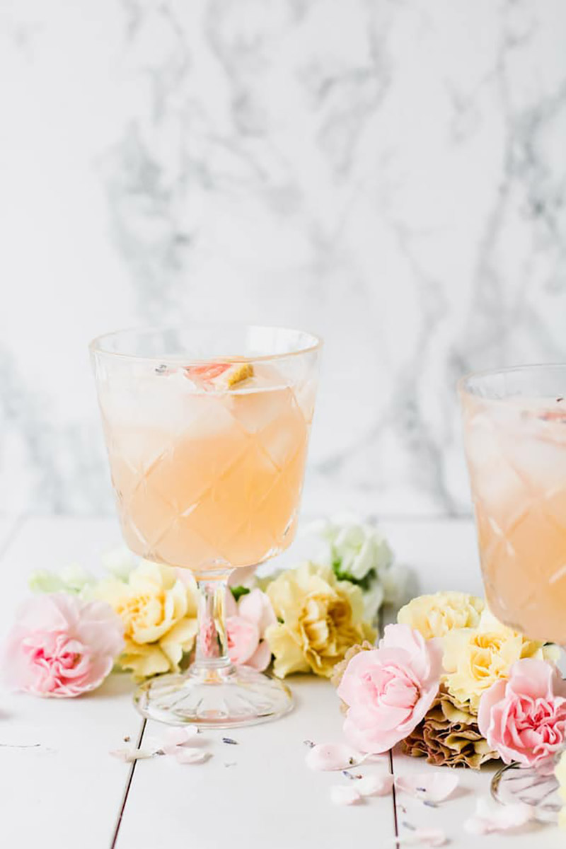 Grapefruit Lavender Spring Blossom Cocktail