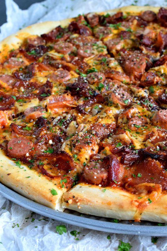 """Homemade """"Newfoundland"""" Pizza"""