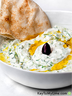Authentic Tzatziki | Key to My Lime