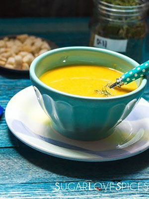 Carrot and Dill Soup | Sugar Love Spices