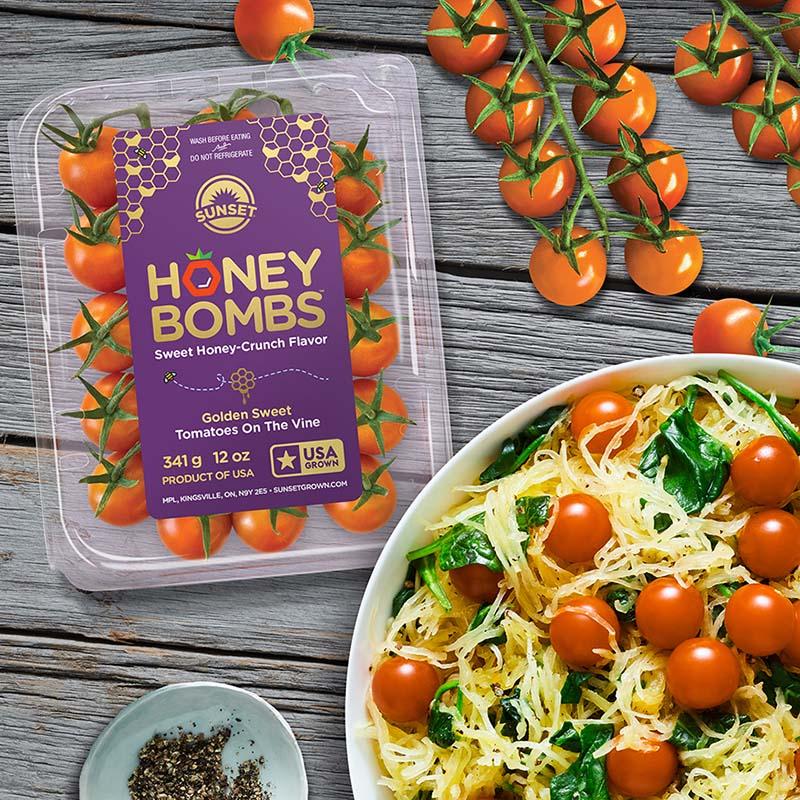 Sunset Honey Bombs Tomatoes on the Vine