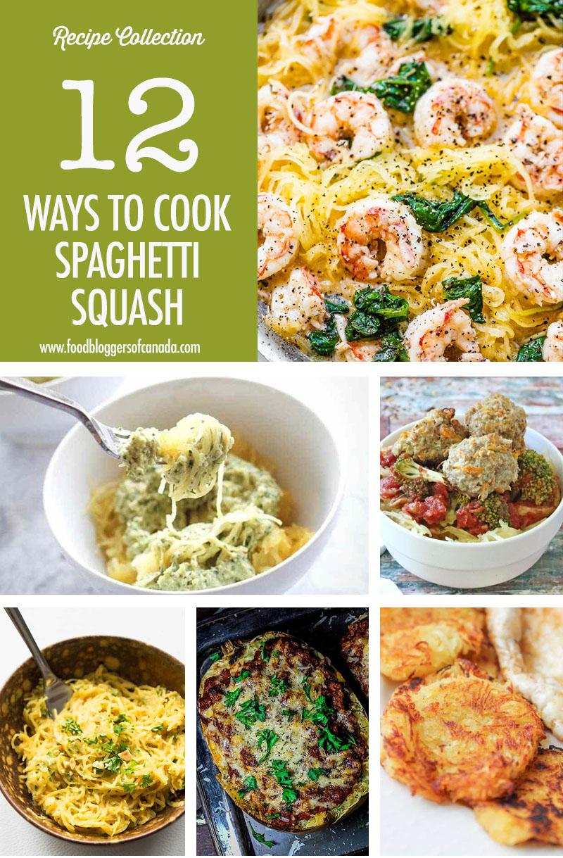 Collage of 8 spaghetti squash recipes
