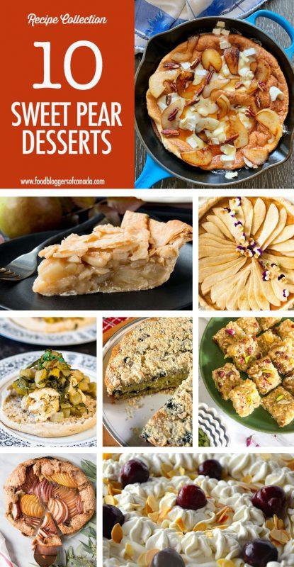 Pear Dessert Collage