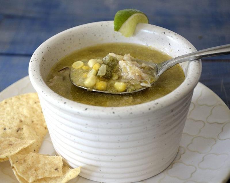 A bowl of sweet corn soup.