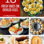 Collage of 6 Deviled Egg Recipes