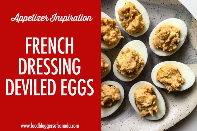 French Dressing Deviled Eggs on a Plate